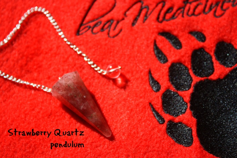 strawberry-quartz-pendulum