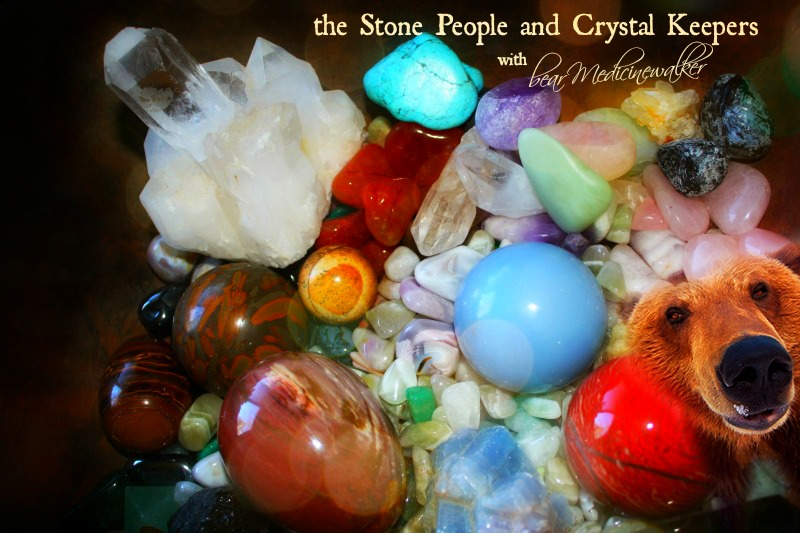 the Stone People and Crystal Keepers with bear